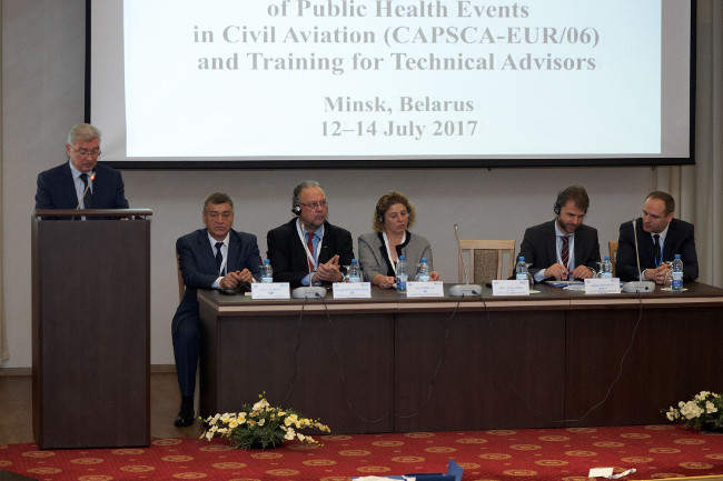 25e31889f89 Collaborative Arrangement for the Prevention and management of public  health events in Civil Aviation (CAPSCA) EUR 06 meeting in Minsk