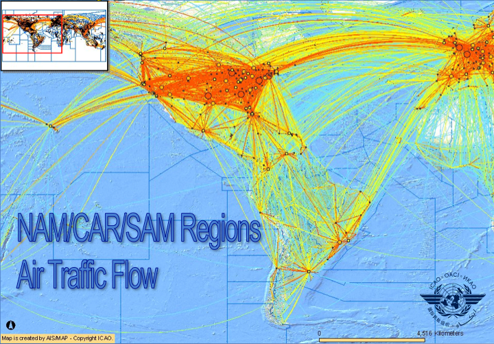 Nam Car Regions Air Traffic Flow