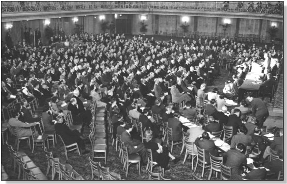 The Chicago Conference ran from November 1 to December 7, 1944 and was attended by 700 delegates from 52 States