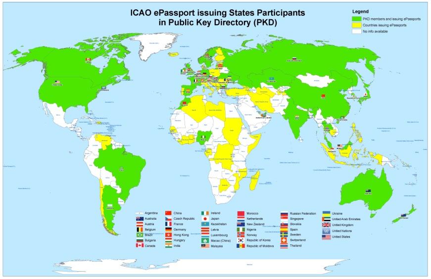 ICAO PKD - Argentina map key