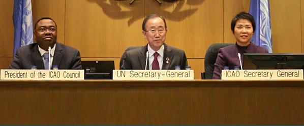 UNSG Ban Ki-Moon Pays Historic Visit to ICAO