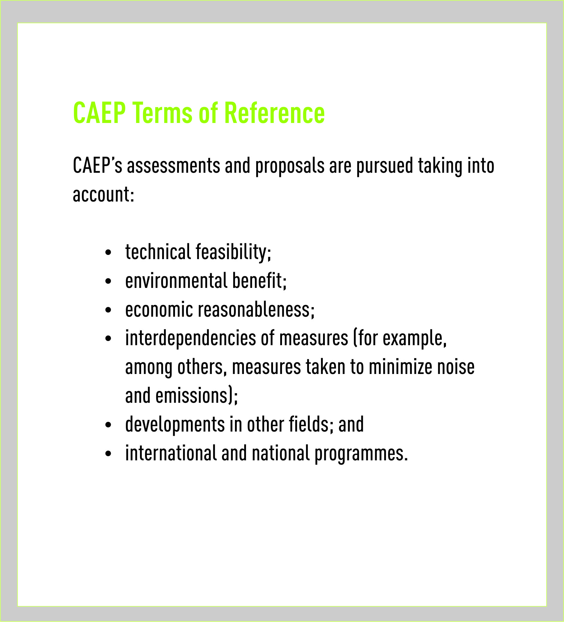 Committee on aviation environmental protection caep terms of reference pronofoot35fo Images