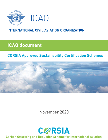 CORSIA Approved Sustainability Certification Schemes